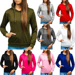 Kapuzenpullover Sweatshirt Hoodie Classic Unifarben Damen BOLF A1A Basic WOW