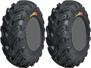 Pair-2-GBC-Dirt-Devil-25x10-11-ATV-Tire-Set-25x10x11-25-10-11
