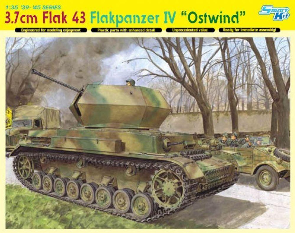 DRAGON 6550 3.7cm FlaK 43 Flakpanzer IV Ostwind