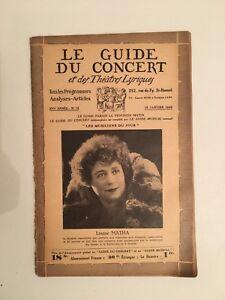El Guía de La Concierto Y Las Teatro Letra Louise Matha N º 15 1930