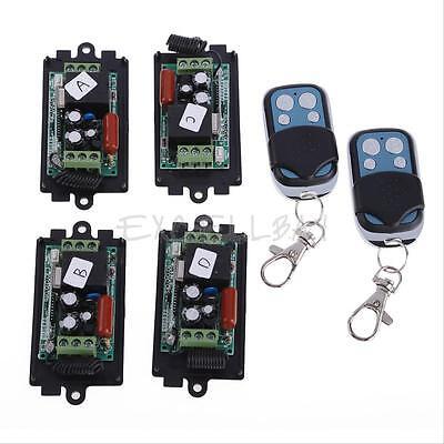 4x AC220V 315MHZ RF Wireless Switch Relay Receiver 2x 1CH Remote Controllers