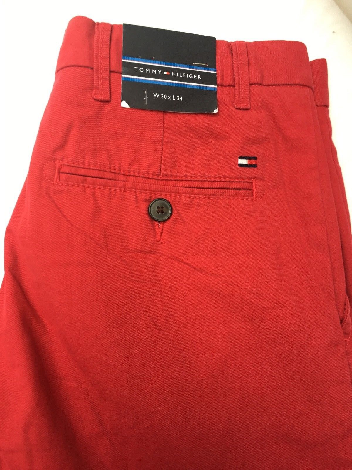 Tommy Hilfiger herren Mercer jeans chino rot  30Wx34L