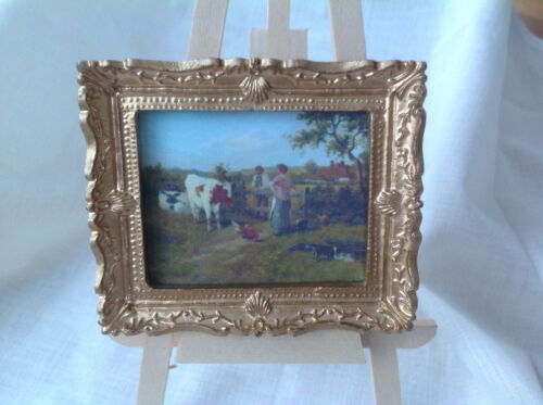 choose from 11 Dolls House Miniatures Handmade Picture X1 set M - ANIMALS