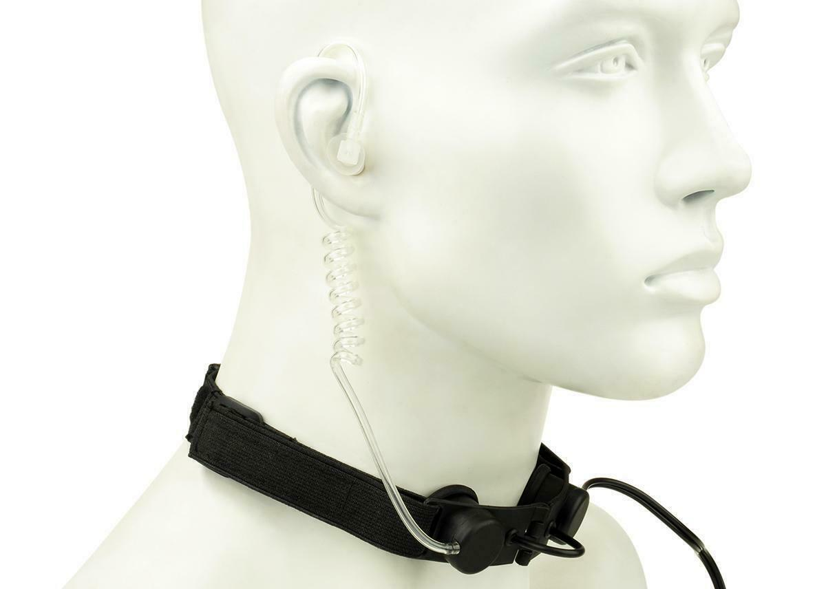 Z-Tactical Airsoft Tactical Throat Mic For 2 Way Radio With Ear Piece Z033 -