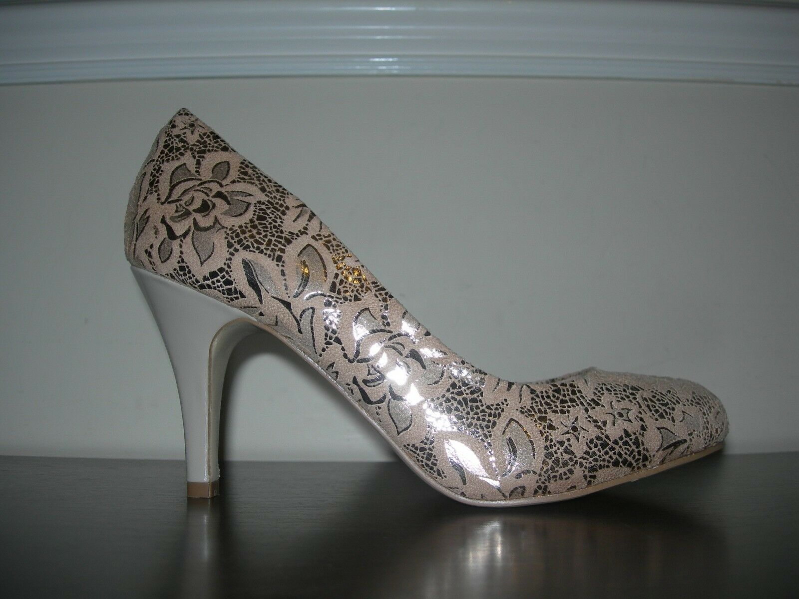 LOTUS WOMEN'S COURT PATTERN Schuhe HEELS GOLDEN FLORAL PATTERN COURT ELEGANT CHIC EU 38 / UK 5 10475e