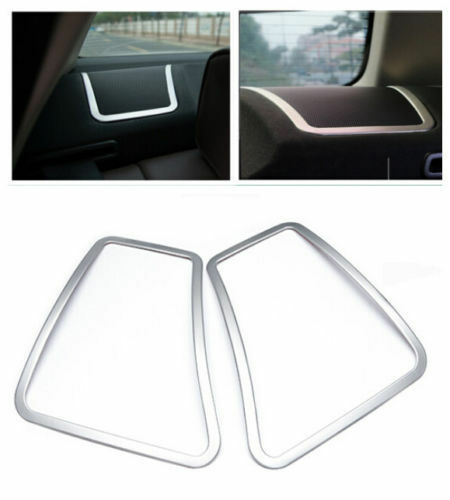 Stainless Rear Back Speaker Frame Cover Trim 2pcs for BMW 5 Series F10 2011-2016