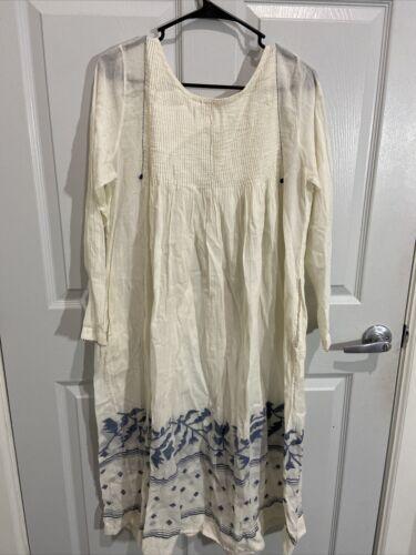 Matta Cotton Ivory Dress Sz L (item 18.2)
