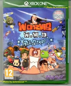 Worms-WMD-All-Stars-HD-039-New-amp-Sealed-039-XBOX-ONE-1