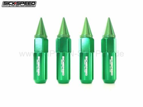 GRUEN SICKSPEED Lug Nuts 60//90mm spiked M12x1.25 Radmuttern 4er