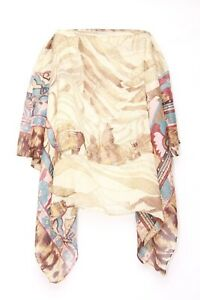 Kleidung & Accessoires s31 KöStlich Floral Scenery Brown Hill & Flower Bordered Tres Chic Ladies Neck Scarf