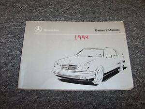 1999 mercedes benz e300 turbo diesel e320 owner owner s operator rh ebay com 1999 mercedes benz e320 owner's manual 1999 Mercedes E320 Problems