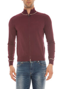 Bordeaux Sweater Armani A6w06kd Jeans Fit Na Regular Cardigan Uomo EYzSx7Yw