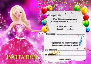 5 12 Ou 14 Cartes Invitation Anniversaire Princesse Ref 445 Ebay