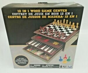 Classic-Wood-12-In-1-Game-Center-Chess-Checkers-Cards-Backgammon-More