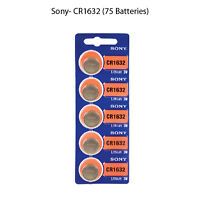 New, Sony Cr1632 3 Volt Lithium Coin Battery 75 Cells
