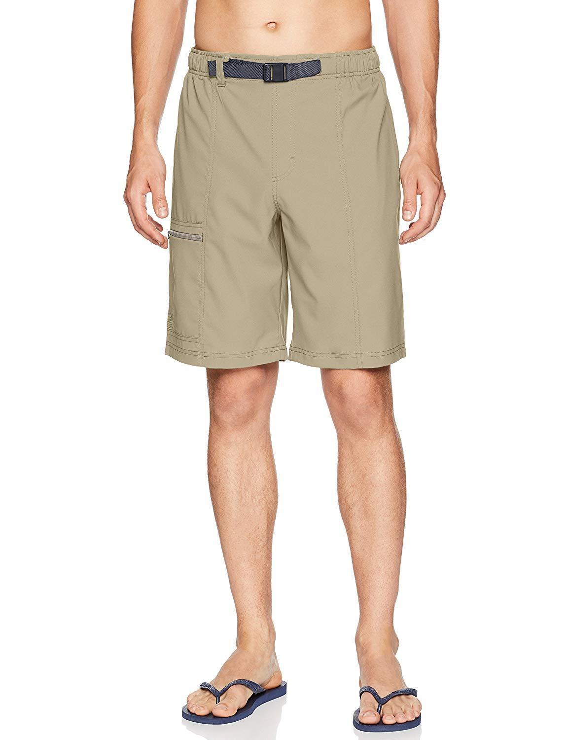 Columbia Men's Trail Splash Shorts Cargo Water Repellent Tan Tusk 10  Inseam