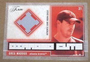 2003-Flair-Diamond-Cuts-Greg-Maddux-GM-BRAVESJERSEY-PATCH-Card-SP