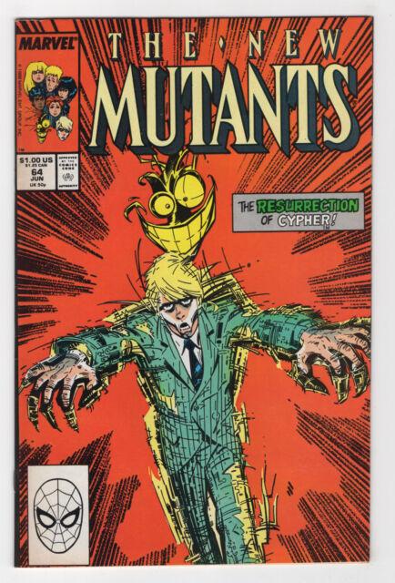 The New Mutants #64 (Jun 1988, Marvel) Louise Simonson Bret Blevins p
