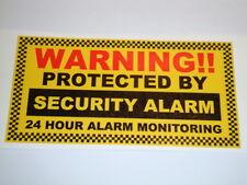 "2 x TOP QUALITY SECURITY STICKERS 4.5"" x 2.5""HOME GARAGE POLICE BURGLAR ALARM"