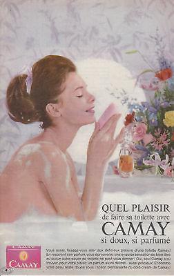 Mode Stijl Publicité Ancienne Savon Camay 1963 Issue De Magazine