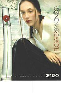 PUBLICITE ADVERTISING 2002    KENZO parfum femme FLOWER
