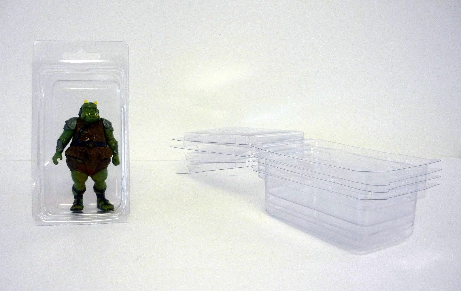 100 X Figura De Medio-flojo casos de Blister - 4.5 x2.375 x1.31  - Estrella Wars Gi Joe