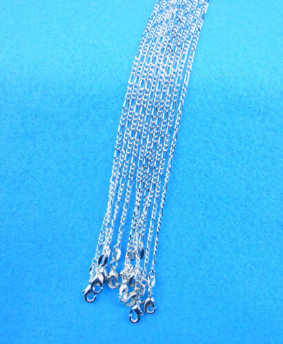 Wholesal 10X Jewelry Making 925 Plaqué Argent Figaro Colliers chaînes pendentifs