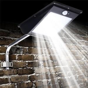 81-LED-Energia-Solare-Sensore-di-Movimento-Sicurezza-Strada-Lampada-da-Esterno