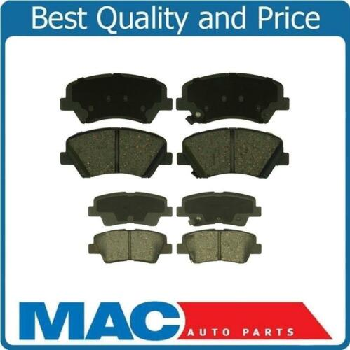 Front /& Rear Ceramic Pads for 11-16 Elantra 12-16 Veloster Non Turbo