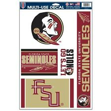 "FLORIDA STATE SEMINOLES 11""X17"" ULTRA DECAL SHEET BRAND NEW FREE SHIPPING"