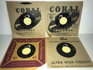 VTG-Lot-4-Elvis-Presley-RCA-Victor-45-RPM-Vinyl-Records-Classic-Greatest-Hits