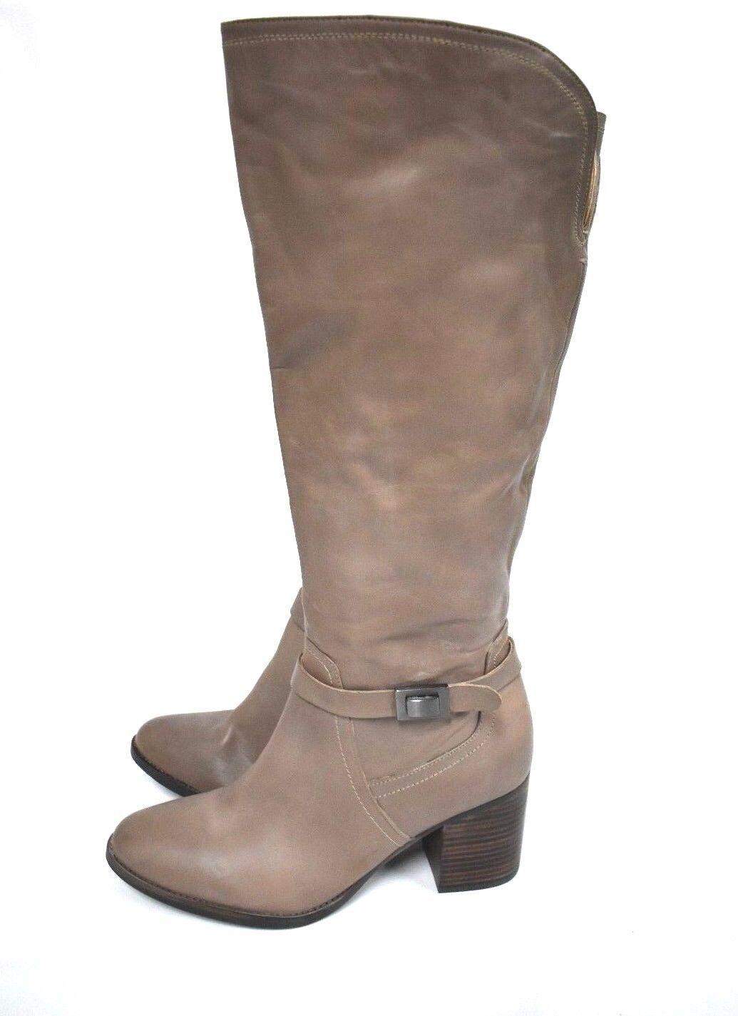 NEU Franco Sarto Damen 'Annie' taupe Blockabsatz hoher Stiefel Kniehohe 11