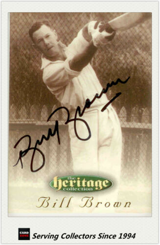 1996 Futera Cricket Heritage Collection Signature Card NO3 Bill Brown