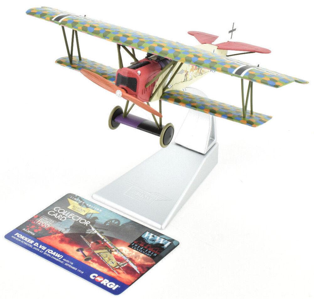CORGI Fokker D. VII (OAW) - septembre 1918 1 48 Die-cast Avion AA38906