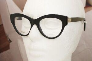 58465a59a159 FENDI FF 0273 eyeglasses 807 Black 49mm CATEYE 100% Authentic ...