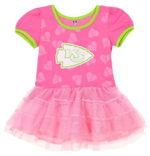 OuterStuff NFL Toddler Girl/'s Kansas City Chiefs Love to Dance Tutu Dress Pink