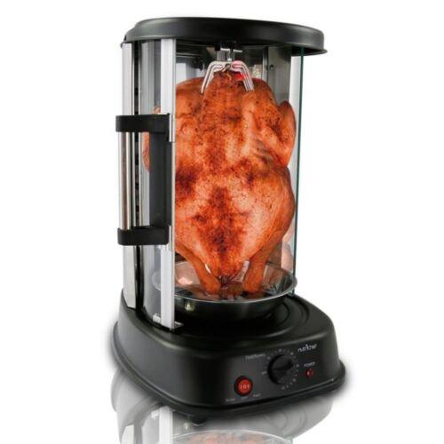 grill Vertical Shawarma Machine Kebab Grill rotisserie Tour Réglable pour four cuisinière brochettes