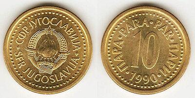 Yugoslavia 1990 /& 1991 10 Para 2 Uncirculated Coin Set KM139
