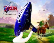 12 Hole Ocarina of Time Ceramic Alto C Flute Legend of Zelda Blue Instrument