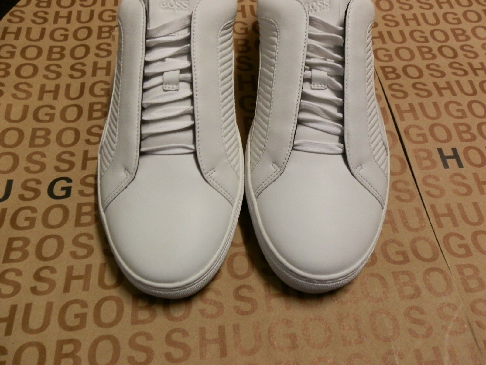 fd7b84df5ed Hugo Boss MERCEDES F1 White Leather BOOTS Shoes Trainers SNEAKERS 7 41 for sale  online