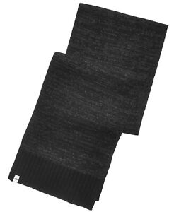 Alfani Mens Space Dye Charcoal Gray Black One Size Ribbed Knit Scarf $40 484