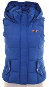 HOLLISTER-Womens-Padded-Gilet-Size-8-Small-Blue-Polyester-BD11