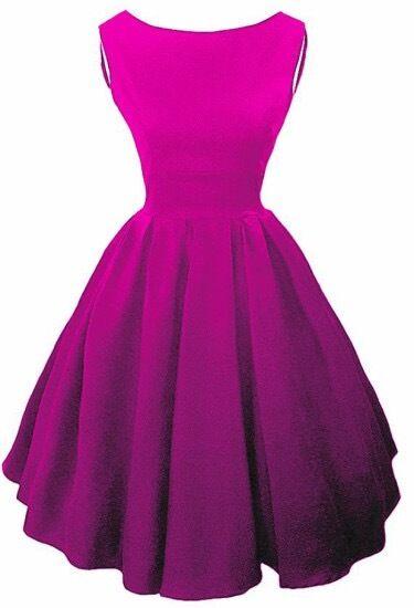 Elizabeth Stone Vintage Inspirot Cerise Rosa 'Elisa' 50s Style Dress Sz 18 NWT
