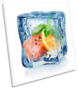 Image Is Loading Frozen Ice Cube Fruit Kitchen SQUARE BOX FRAMED