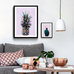 Pineapple-Cactus-Poster-Prints-Colorful-Plants-Picture-Wall-Art-Canvas-Painting