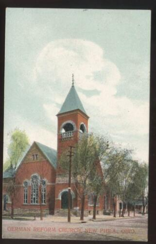Postcard New Philadelphia OH German Church view 1907?
