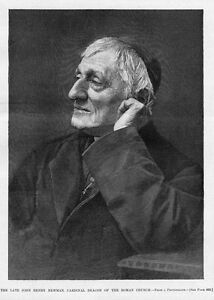 JOHN-HENRY-NEWMAN-1890-HARPER-039-S-WEEKLY-RELIGION-CARDINAL-DEACON-OF-ROMAN-CHURCH