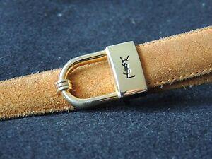 Jolie-ceinture-YVES-SAINT-LAURENT-en-cuir-camel-boucle-dore-taille-80-vintage