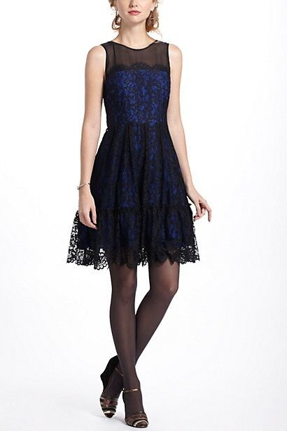 nyA NIP Anthropologie Sapphire Lace Dress by Moulinette Soeurs 4