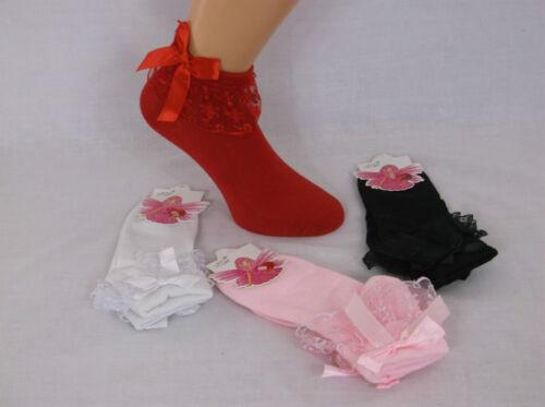 Girls Lace Bobby Socks Lace Frill Socks Northern Soul Dance Socks Ballet Socks